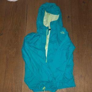 A North Face rain coat